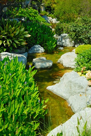 Beautiful garden with pond Stock Photo - 4426295