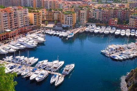 monte carlo: Marina of Monte Carlo in Monaco