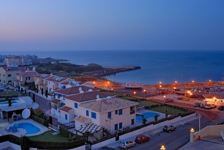 Apartments and cottage for rent on Cyprus coast Stock Photo