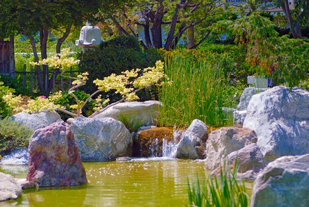 Beautiful garden with pond Stock Photo - 7720967