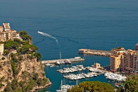 Yachts and apartments in port Fontvieille in Monte Carlo Stock Photo - 8979149