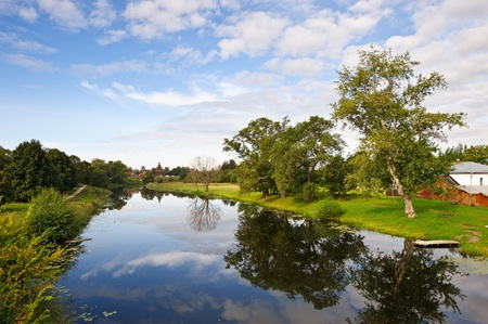 River in old russian town Suzdal Stock Photo - 10398253