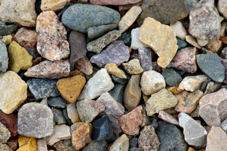 Natural gravel background photo