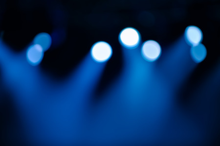 ray of lights: Defocused spots and lighting on stage background