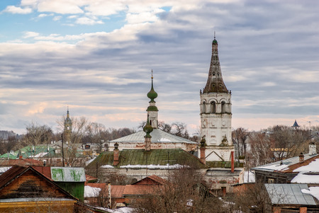 Roofs of old russian town Suzdal photo