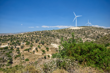 electric generating plant: Wind power plant on Cyprus hills