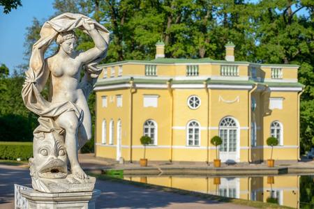 Galatea sculpture near Upper Bathhouse pavilion in the Catherine Park. St. Petersburg. Russia