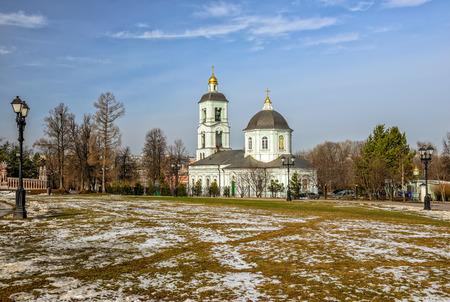 tsaritsino: Church in Tsaritsino park, Moscow, Russia Stock Photo