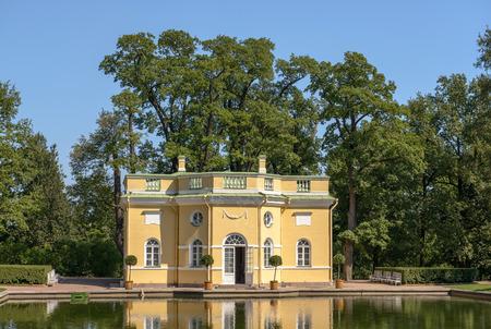 bathhouse: The Upper Bathhouse pavilion in the Catherine Park. Tsarskoye Selo. Russia Editorial