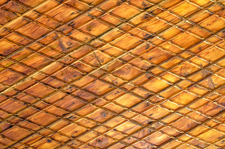 laths: Vintage wooden background with crossed laths