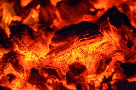 smolder: Closeup view of smoldering coals