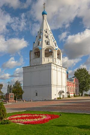 Medieval bellfry in old russian town Kolomna