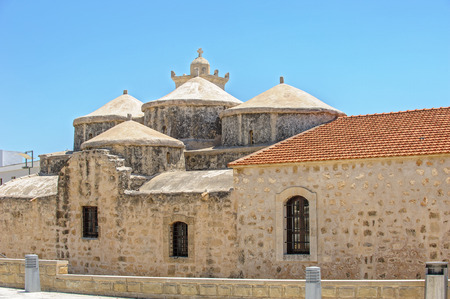 Medieval church with five domes of Agia Paraskevi in Paphos. Cyprus