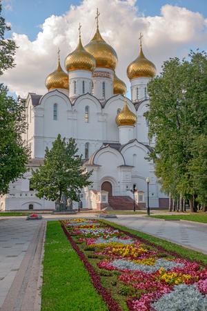 Orthodox cathedral in Yaroslavl. Russia