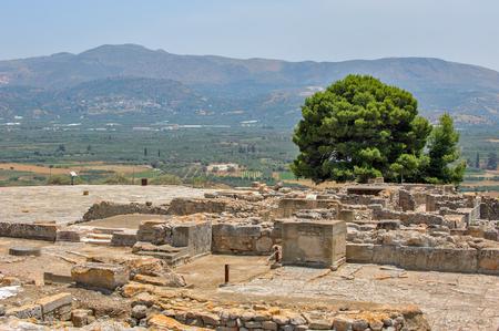 Phaistos palace archaeological site on Crete Stock Photo