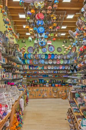 Traditional souvenir shop on Crete