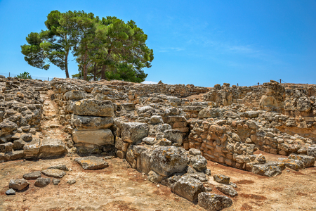 Phaistos palace archaeological site on Crete, Greece
