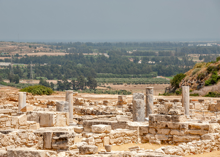 Ruins of ancient greek town Kourion near Limassol on Cyprus Stock Photo