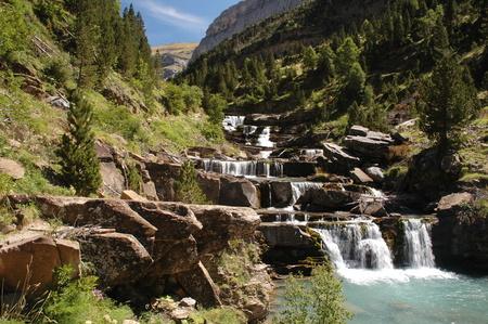 ordesa: Waterfall in National park of Ordesa