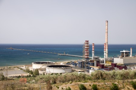 Modern power station near the town of Trabia, Sicily, Italy Stock Photo - 7468065