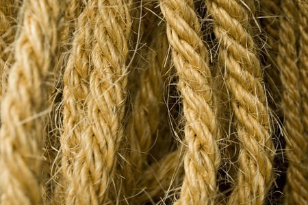 fibres: Detail of the rope made of natural fibres of hemp