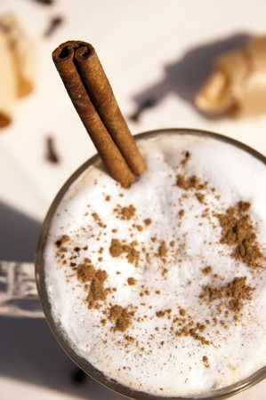chai: Cup of indian spicy chai latte