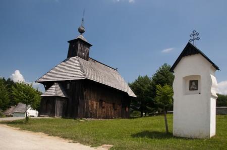 liptov: Traditional wooden church, Liptov region, Slovakia