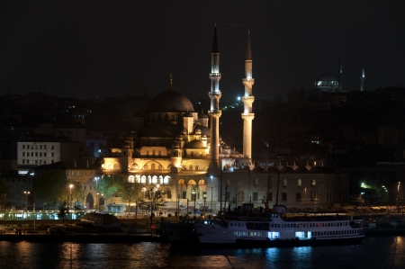 camii: The Yeni Camii, The New Mosque or Mosque of the Valide Sultan Stock Photo