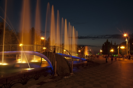 Dancing Fountains at recently renovated Batumi Boulevard, Gerogia Stock Photo - 14514901