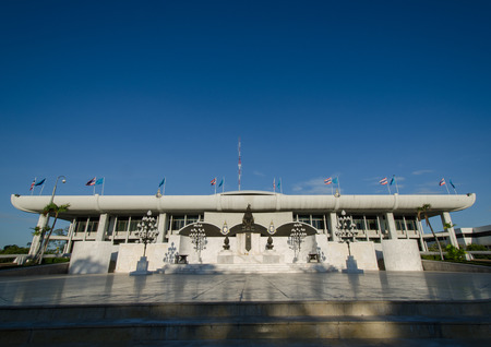 consisting: Parliament House of Thailand.  he Parliament House of Thailand currently houses the National Assembly of Thailand, the legislative branch of the Royal Thai Government.  The legislature is a bicameral body, consisting of two chambers: the upper house.