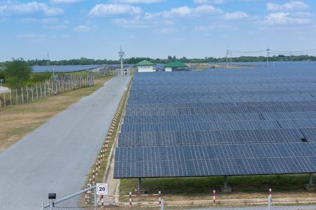solar farm: The solar farm for green energy in Thailand