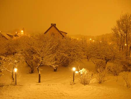 sweden winter: Midnight snow
