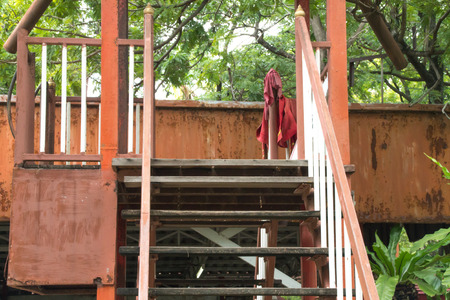 formatting: the stair from the crocodile farm Stock Photo