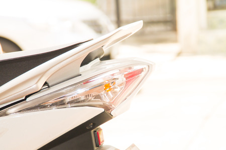 taillight: the taillight in motorcycle Stock Photo
