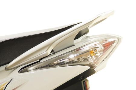 taillight: taillight in motorcycle Stock Photo