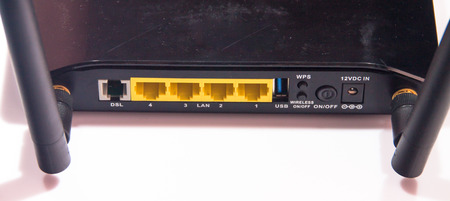 adsl: the ADSL Modem for the internet connection Stock Photo