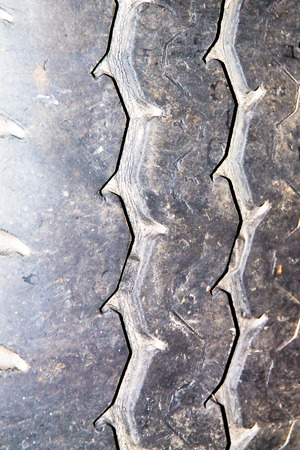 tyre tread: the old tired for the background