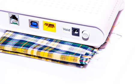 it tech: the internet modem for the internet connection Stock Photo
