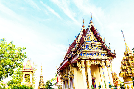 buddhist temple: the buddhist temple on the temple Stock Photo
