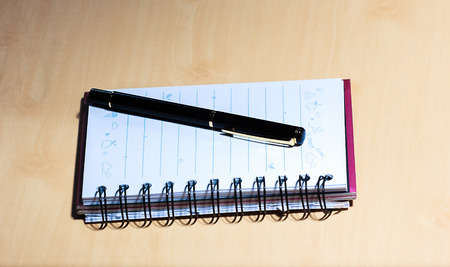 uses: the notbook and the pen uses in the paper