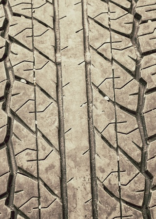 tyre tread: the tries use for the car.
