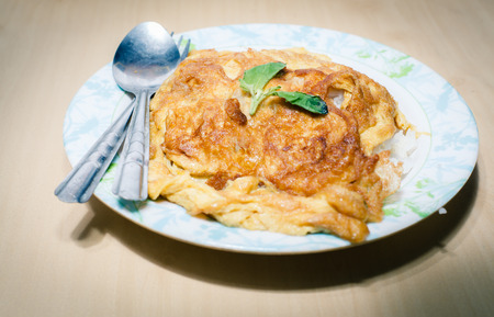 The rice and omelet is the morning food Reklamní fotografie