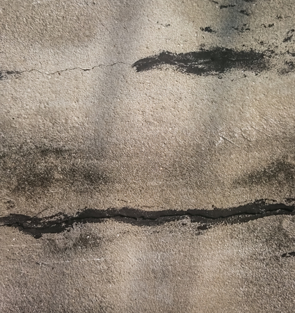 crack house: the light and shadow in cement wall Stock Photo