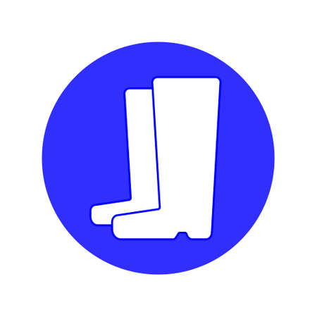 Wear Safety Footwear. Protective Safety Boots.Work only in boots, flat design