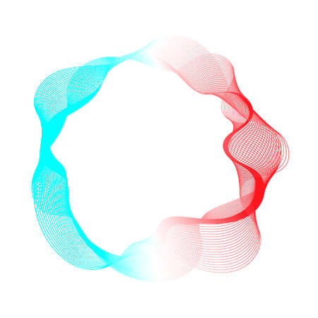 Futuristic abstract blue red gradient wave line vector, technology concept for web