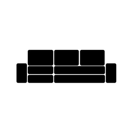 Sofa icon isolated on white background. Couch for living room. 向量圖像