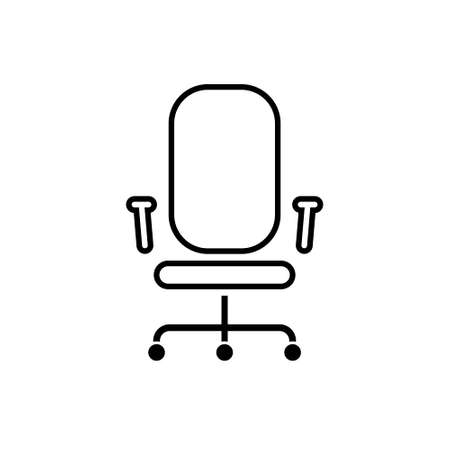 Office chair line icon on a white background. Vector illustration