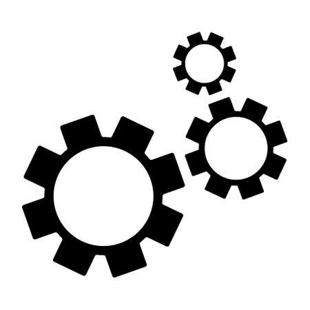 Settings vector icon. Black illustration isolated on white background for graphic and web design. Ilustración de vector