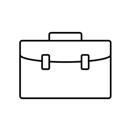 Business bag icon isolated on white, flat style.