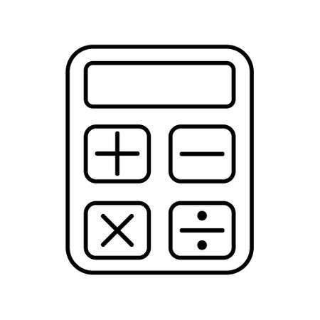 Calculator icon vector in flat design.